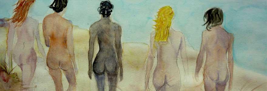 tableaux jeunes filles nues